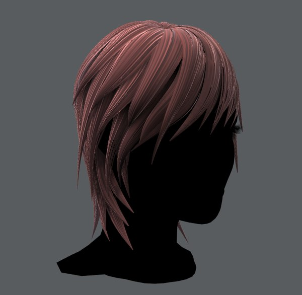 woman hair 3D model