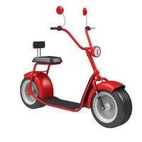 big electric scooter 3D model