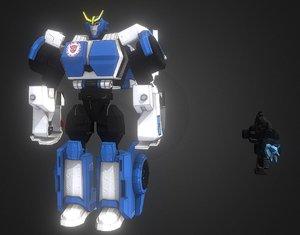 3D strongarm movies film model