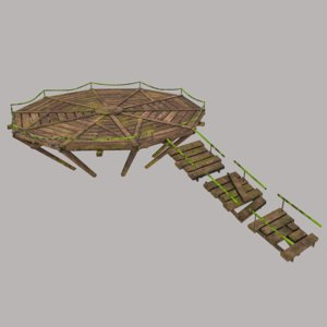 fantasy bridge 3D model