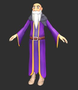 3D wizard fantasy ai