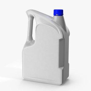 3D motor oil canister