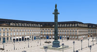 Place Vendome Paris Low Poly