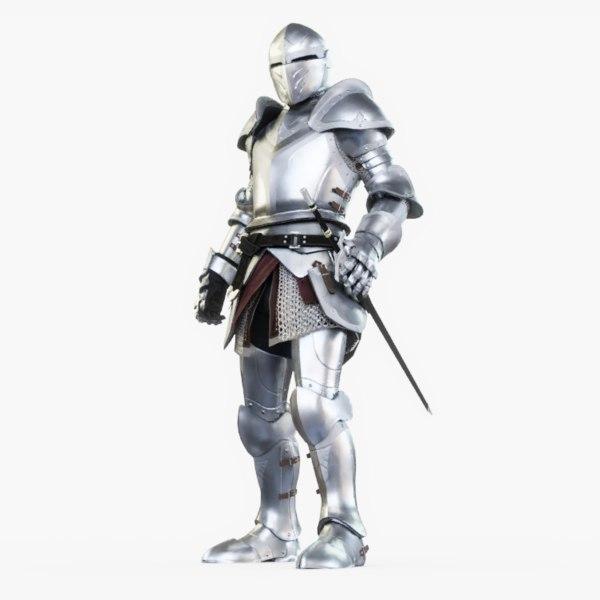 3D model knight