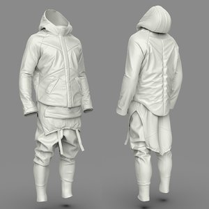 si-fi costume parts 3D model