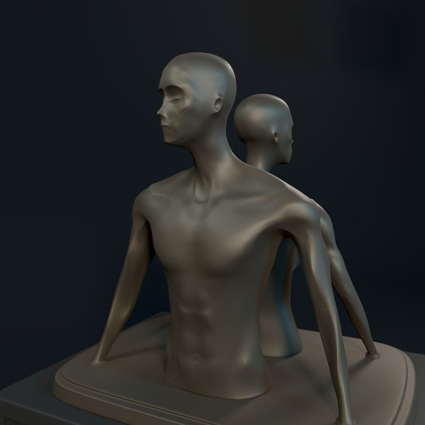3D abstract statue model