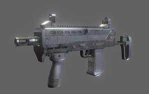 3D model mak-10 gun games
