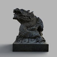 lion-statue-004-01 dragon sculpture model
