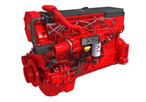 cummins x15 truck engine 3D