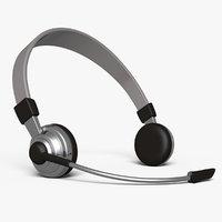 3D model stylized headset