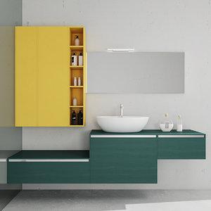 3D bathroom furniture set arcom