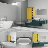3D bathroom furniture set arcom