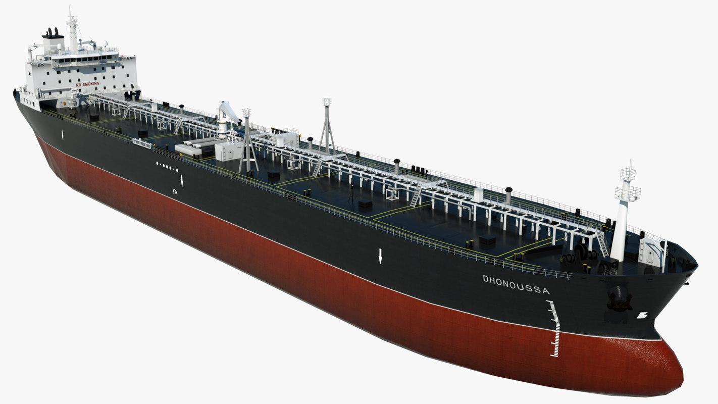 crude oil tanker dhonoussa 3D model