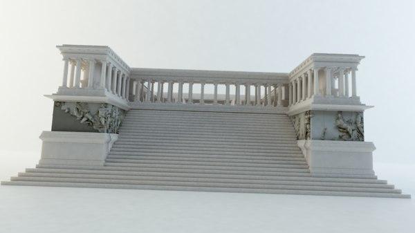 3D great zeus altar model