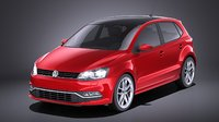 2015 volkswagen polo 3D model