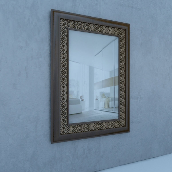 traditional mirror 3D model