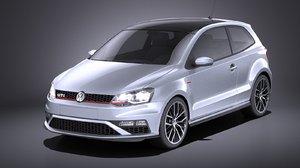 3D model 2015 volkswagen gti