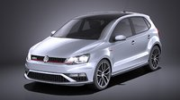 2015 5-door volkswagen 3D model