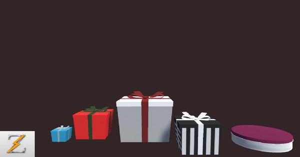 3D model christmas box
