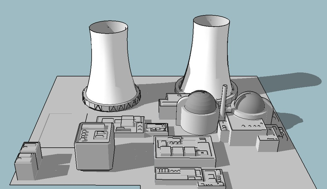 nuclear power 3D model