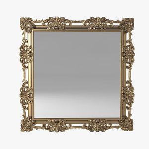 3D spini baroque mirror model