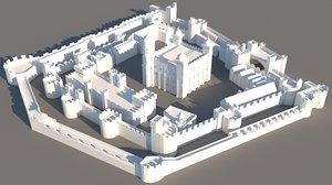 3D london tower model