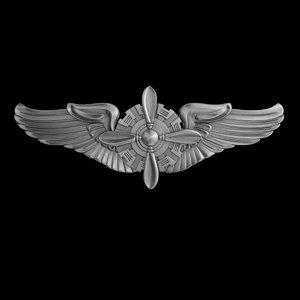 3D usaaf flight engineer wings