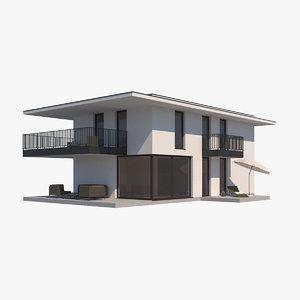 3D villa furniture realistic model