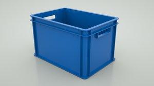 plastic box container 3D model
