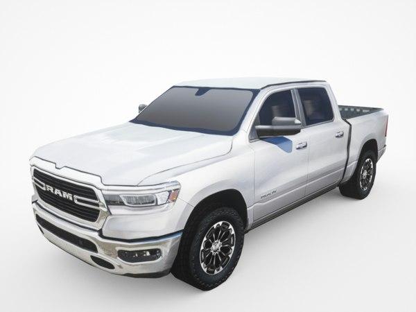 3D model 2019 dodge ram 1500