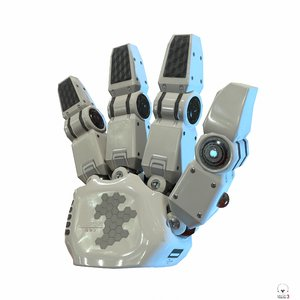 robot hand pbr model