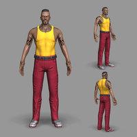 3D thug soldier