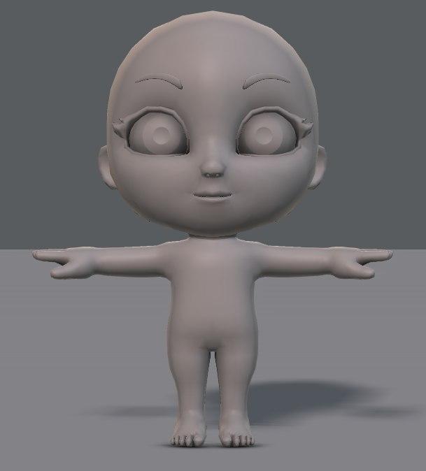 cartoon child 3D model