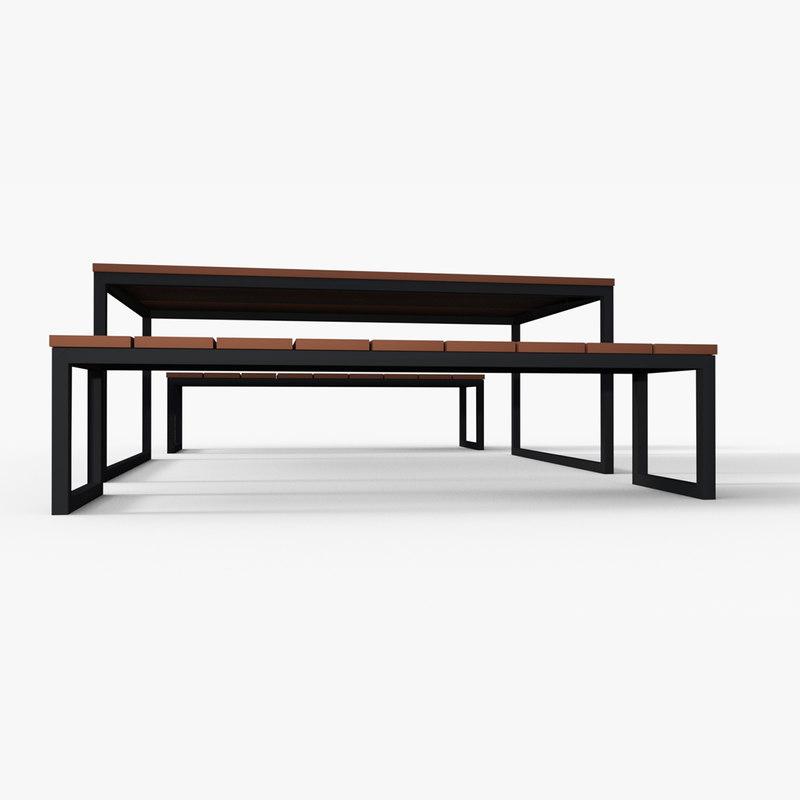 3D m1nn0taur picnic table