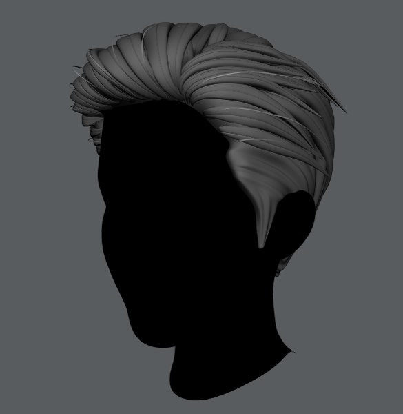 hair man 3D model