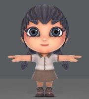 girl sd 3D