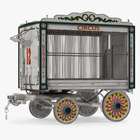 antique circus wagon model