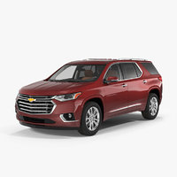 3D chevrolet traverse suv 2018