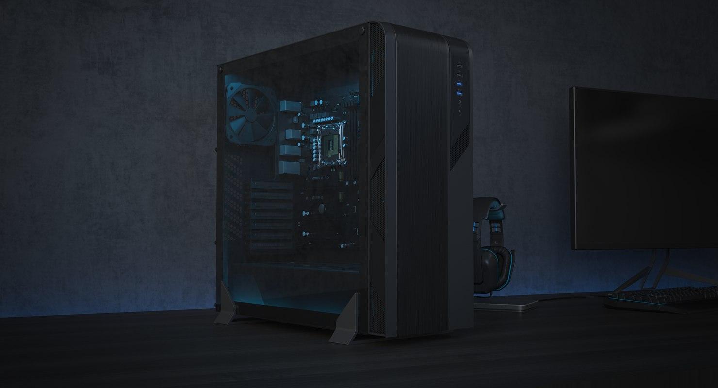 3D model generic desktop chassis