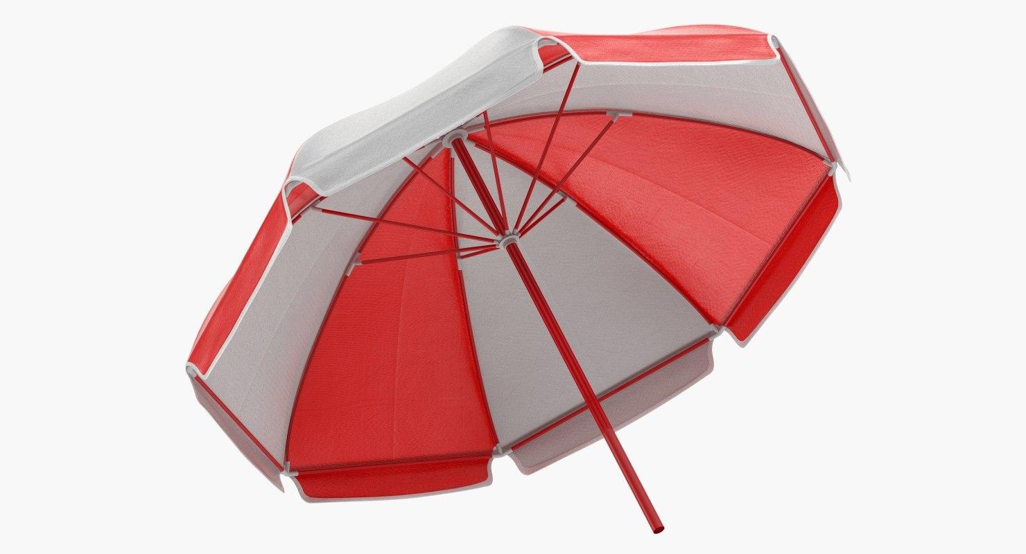 3D open umbrella model