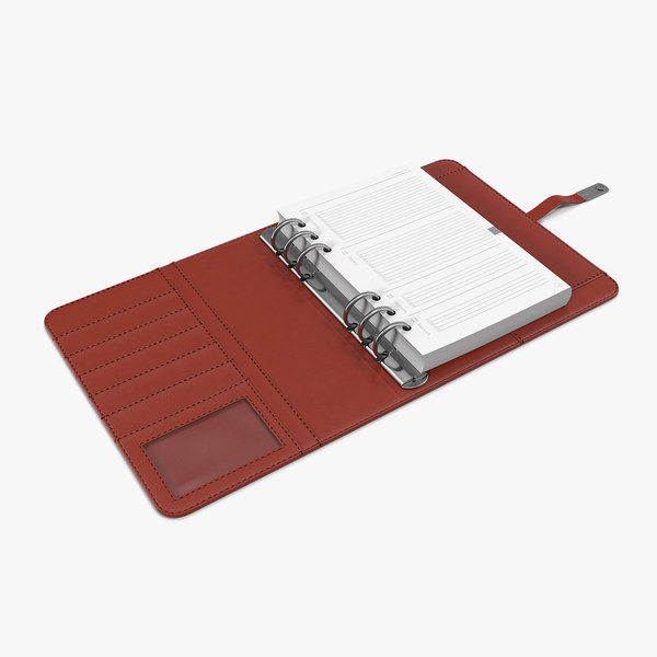 3D open weekly organizer red