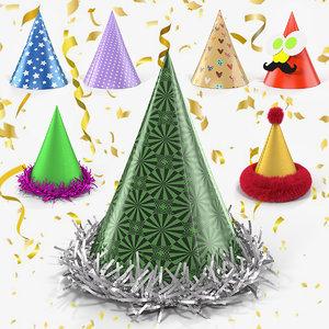 party hats 3D model