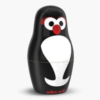 3D model penguin nesting doll