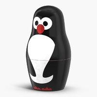 3D penguin nesting matryoshka