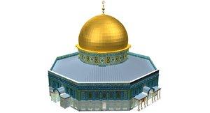 3D al aqsa mosque