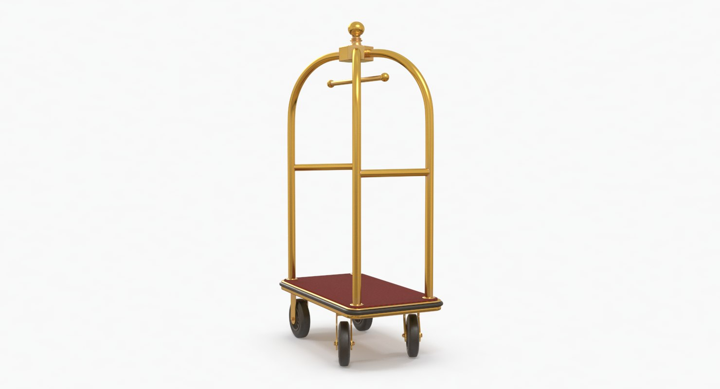 luggage cart 3D