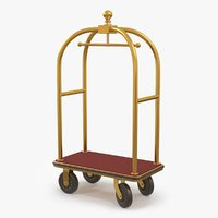 Luggage Cart Gold