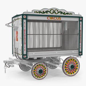 3D traveling circus wagon model