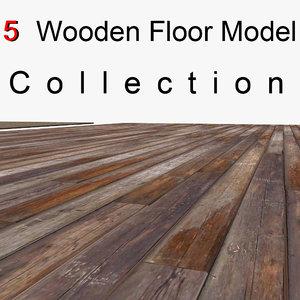 3D wood wooden plank