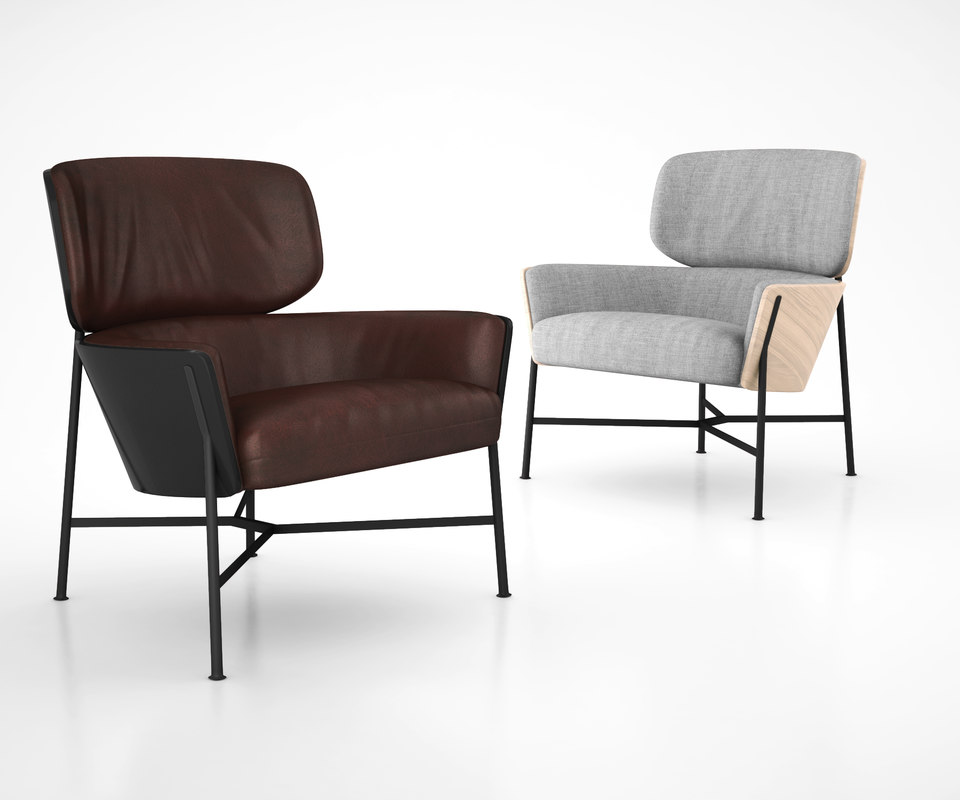 caristo armchair sp01 3D